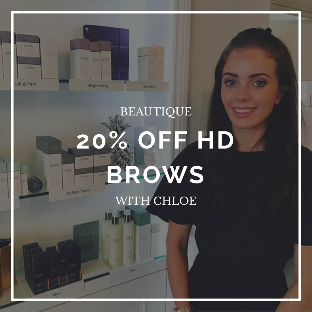 20% OFF HD BROWS